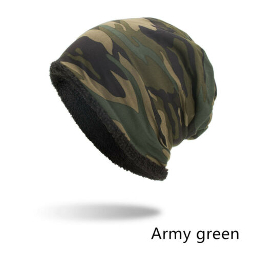 Classic Camouflage Hat For Men Skullies Beanie Hats Winter Warm Knitted Caps