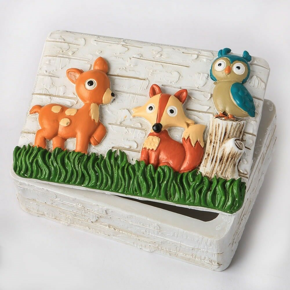 35 Woodland Animal Jewelry Boxes Baby Shower Christening Birthday Party Favors