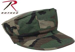 afa682589bb10 Woodland Camouflage Military Style Marine   Navy 8 Point Fatigue Hat ...