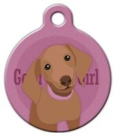 Good Girl Dachshund - Custom Personalized Pet Id Tag For Dog And Cat Collars