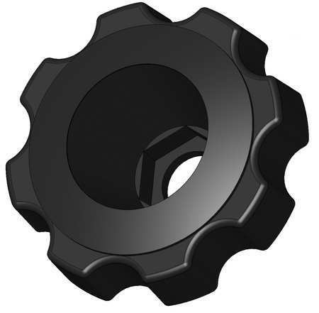 """Snap Lock Fluted Knob 1//2/"""" Thread Size, INNOVATIVE COMPONENTS GNH7-HEXF6----"""