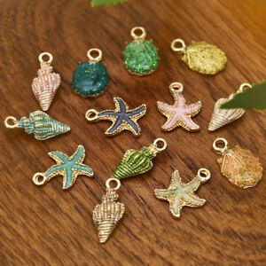13Pcs-Enamel-Conch-Sea-Shell-Pendant-DIY-Charms-Findings-Jewelry-Making-Handmade