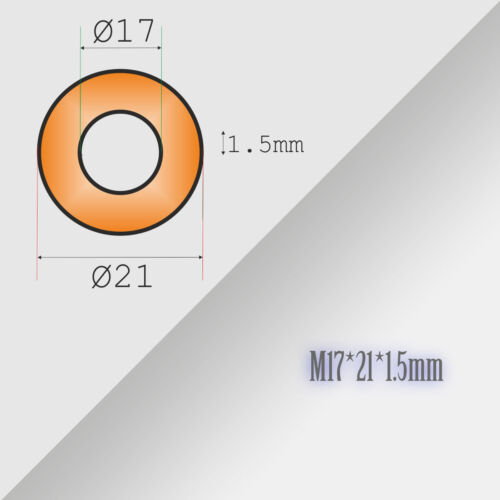 M16//M18 Thick 1,5mm Metric Copper Flat Ring Oil Drain Plug Crush Washer Gaskets