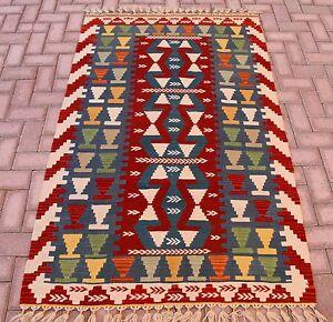 Teppiche & Flachgewebe Antiquitäten & Kunst Creative Türkischer Handgewebt Gemüse Dye Anatolische Handmade Teppich Natur Wolle Kelim Attractive And Durable