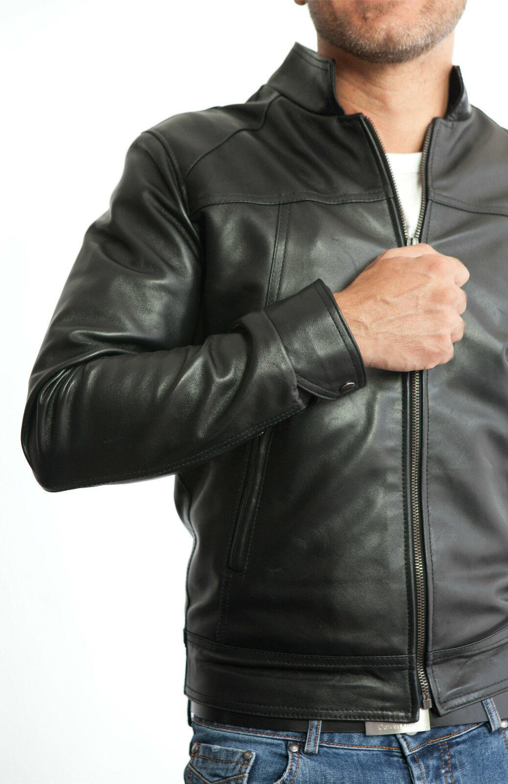 bc86fc3e51 DE Herren kabát Lederjacke En Biker férfi bőr 100 nadrág kabát Homme Veste  En cuir 3s5a