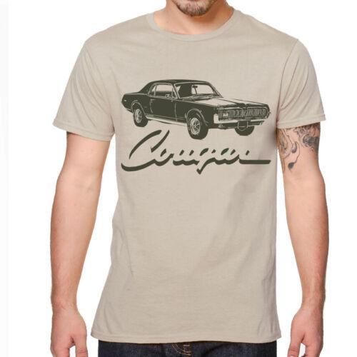 1968 MERCURY COUGAR XR7 American Muscle Car Soft Cotton T-Shirt Multi Colors