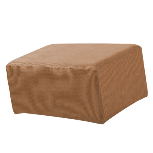 Stretch Elastic Ottoman Cover Protector Footrest Stool Slipcover Size/_S