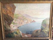 Gyula Hary (Hungarian, 1864-1946) Impressionist Painting of Amalfi, Italy