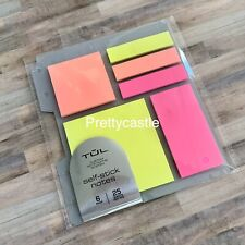 New Tul Neon Sticky Note Pads For Custom Discbound Levenger Circa Planner