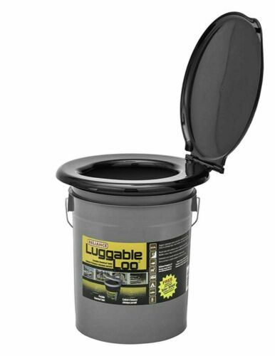 Luggable Loo Portable Toilet Seat Lightweight 5 Gallon Outdoor Camping Hiking