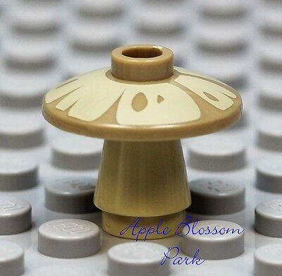 Hobbit Minifigure Plant 2x2 Printed Radar Dish NEW Lego Minifig TAN MUSHROOM