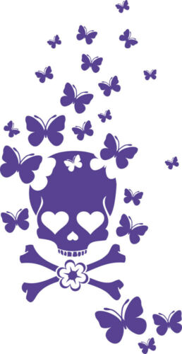 Wall Tattoo Kids Room Stickers for Girls Room Skull Butterfly