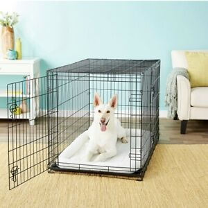 Frisco-Fold-amp-Carry-Double-Door-Collapsible-Wire-Dog-Crate-48-inch-XL-FastShip