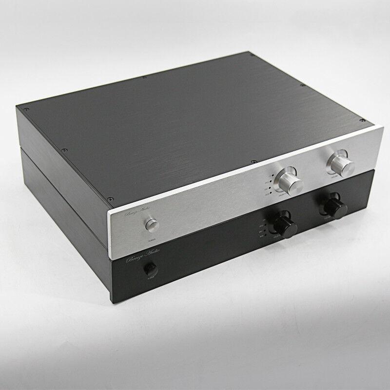 Chasis de preamplificador de aluminio 4307 completa potencia amplificador amplificador amplificador caja Hágalo usted mismo DAC caso 43070308MM 3835c4