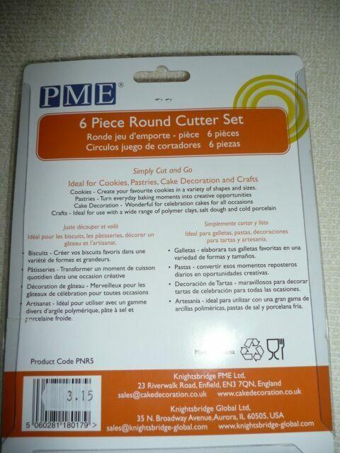 PME PNR5 Round Cutter White Knightsbridge Global Ltd. Set of 6
