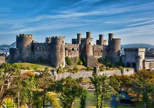 A3-Conway-Castle-Wales-Poster-Size-A3-Hilltop-Fortress-Poster-Gift-16376