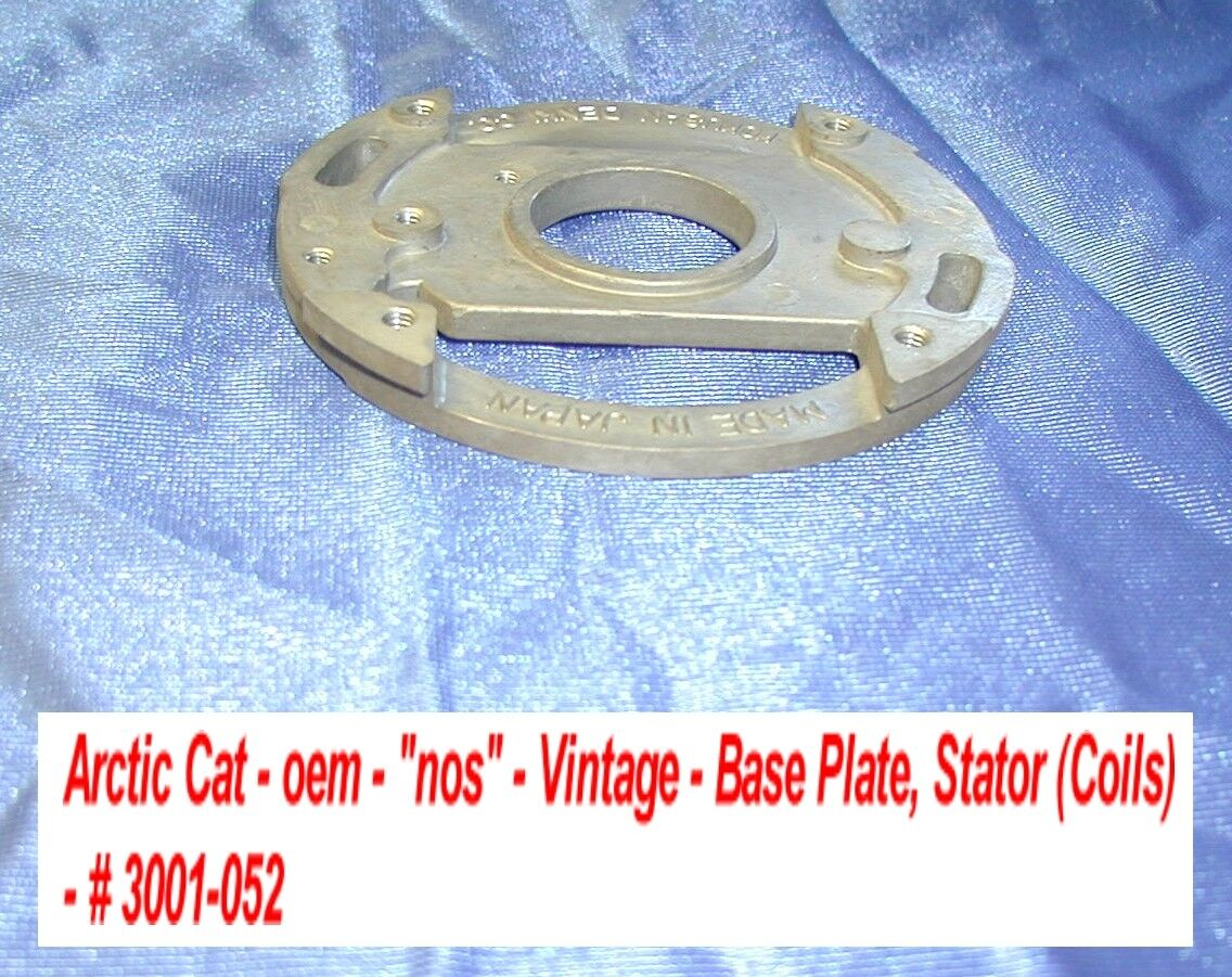 Arctic Cat Snowmobile Base, Stator  Mounting Plate NOS 1973 El Tigre  100% free shipping