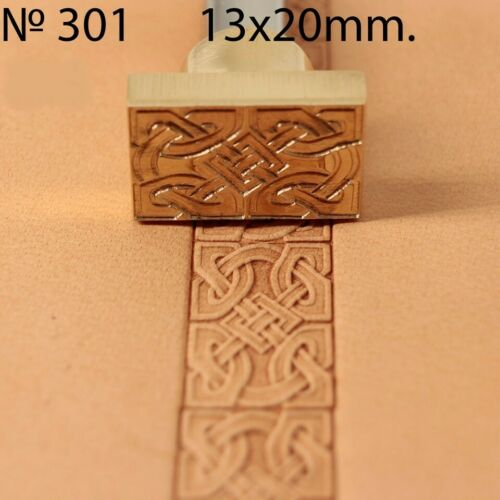 Leather crafting stamp tool for leather crafts brass celtic border stamps #301