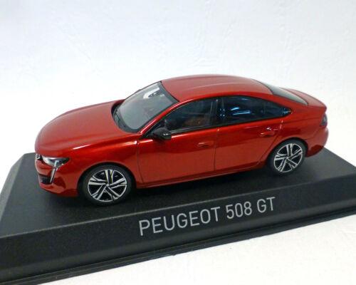 NOREV 1:43 rot-Metallic Peugeot 508-2018
