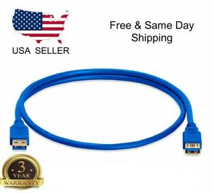 3 Feet 1m USB 3.0 SuperSpeed Male A to Male A Socket Extension Cable Cord CA