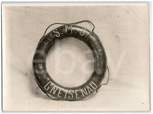 SMS Gneisenau German Navy Armored Cruiser LIFE RING Original WW1 Press Photo