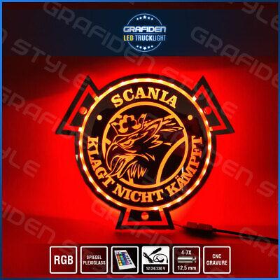 SCANIA VABIS LKW SPIEGEL LED SCHILD L 60cm x H 35cm ! LKW Rückwand LED SIGN