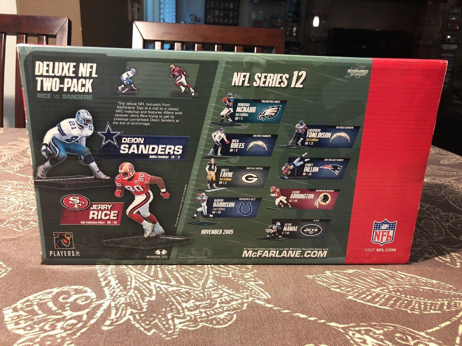 2005 McFarlane NFL 2 Deion Deion Deion Sanders vs Jerry Rice Cowboys- 49ers 2faf03