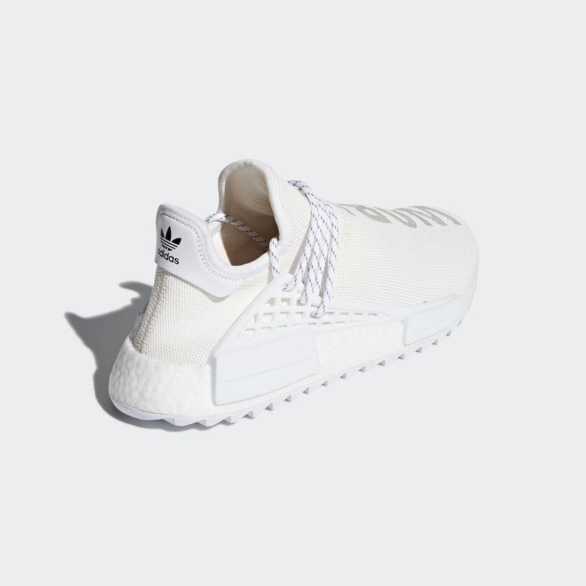 US 6.5 Adidas Pharrell HU Human Race Canvas Holi Blank Canvas Race Cream White AC7031 Japan e590d9