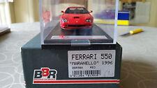BBR BBR90A 1/43 1996 Ferrari 550 Maranello Handmade Resin Model Car mint in box