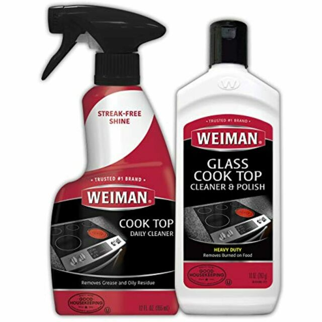 Weiman Glass Ceramic Cooktop Cleaner - 10 Ounce - Stove Top Daily Cleaner Kit- for sale online ...