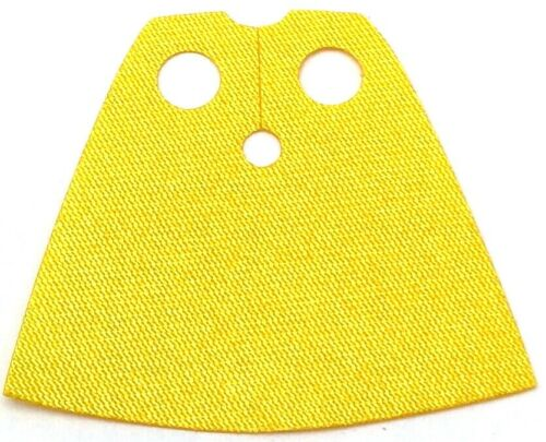 Lego New Yellow Minifigure Cape Cloth Short Shiny Satin Fabric Piece