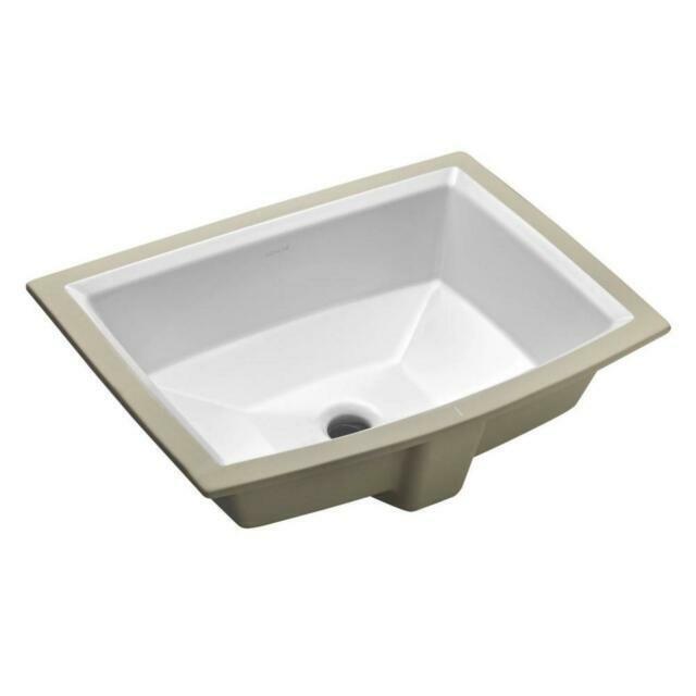 Kohler Archer Undermount Bathroom Sink No Faucet Holes White For Sale Online Ebay