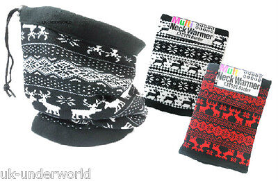 2019 Mode Adults Mens Ladies Reindeer Aztec Neck Warmer Snood Scarf Balaclava Hat Mask Spezieller Kauf
