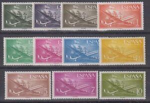 SPAIN-MNH-PLANES-1955-Mi-1055-61-1073-78-EDIFIL-1169-79-Sc-C147-57