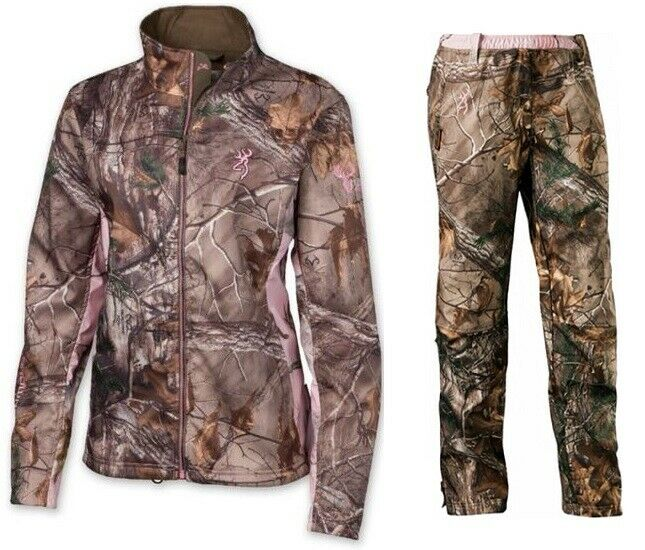 brauning Hell's Belles Woherren Ultra-Lite Camo Hunting Suit Jacket Pant, RTX, L