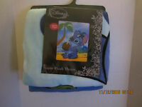 Disney Lilo Stitch Plush Soft Fleece Blanket Bedding Numbers 48 X 60 2016