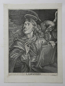 Frederik-de-wit-1630-1706-Saint-Jean-Engraving-Iohannes-Stamp-of-Collection