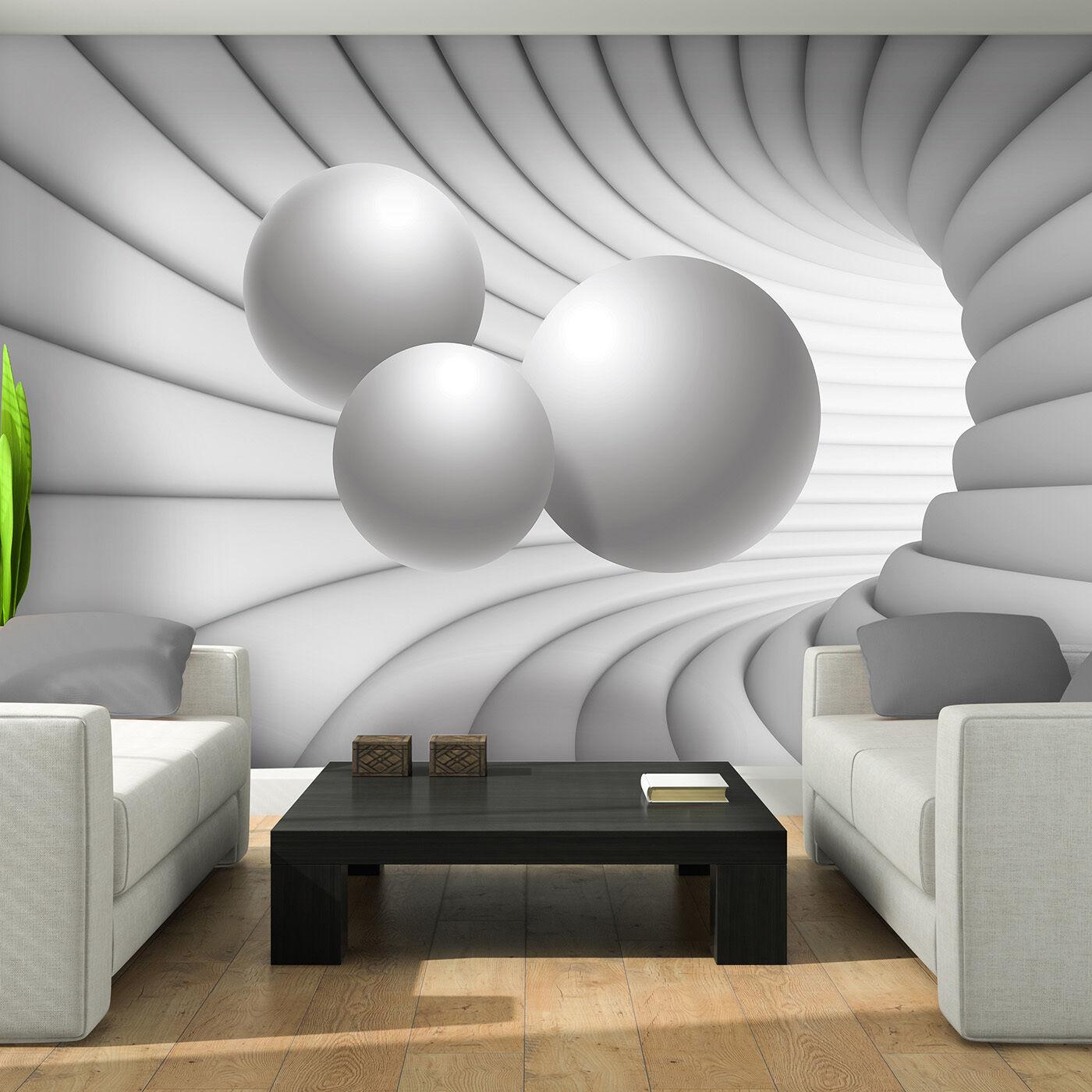 Tessuto non tessuto Foto Carta da parati parati parati Fotomurale astrazione Sfere Bianco Arte Muro 3fx10141ve 10d8b5