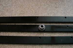 CNC-Plasma-taable-Mech-Rack-amp-Gear-72-034-Rack-3x24-034-pcs-3-8-034-20T-Pinion-Gear