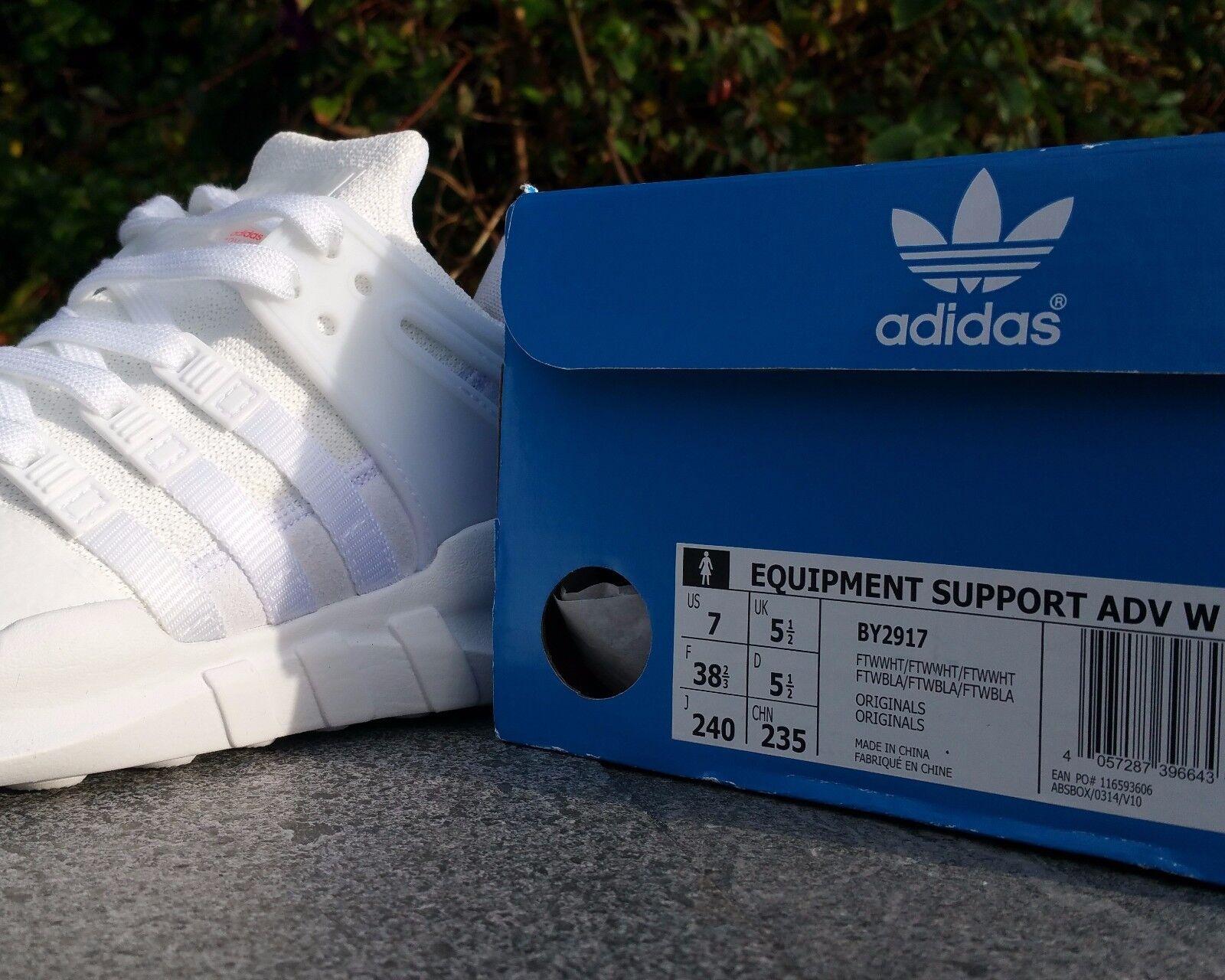 BNWB Genuine Weiß Adidas EQT Equipment Support Adv ® Triple Weiß Genuine Trainers All Größes 8f2987