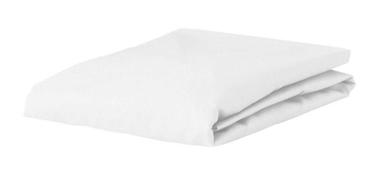 Essenza Premium Jersey Spannbettlaken Weiß  3 Größen Baumwolle Jesey  Weiß