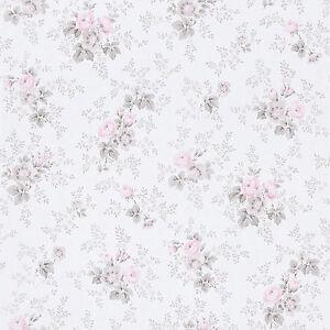 Rasch tapete petite fleur iii 285030 blumen rosen wei for Florale tapete