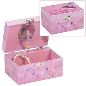 MELE GIRLS CHILDRENS MUSICAL FAIRY PRINCESS JEWELLERY BOX TRINKET JEWELRY CHEST