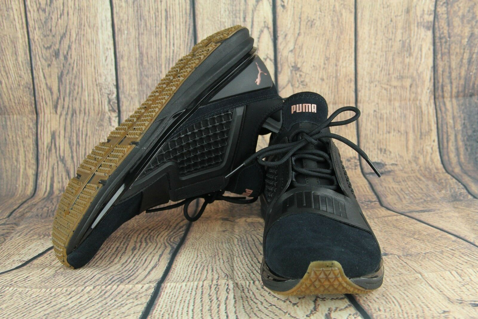 Puma IGNITE Limitless Suede Training shoes Black 19059301 Women's Size 9 NEW