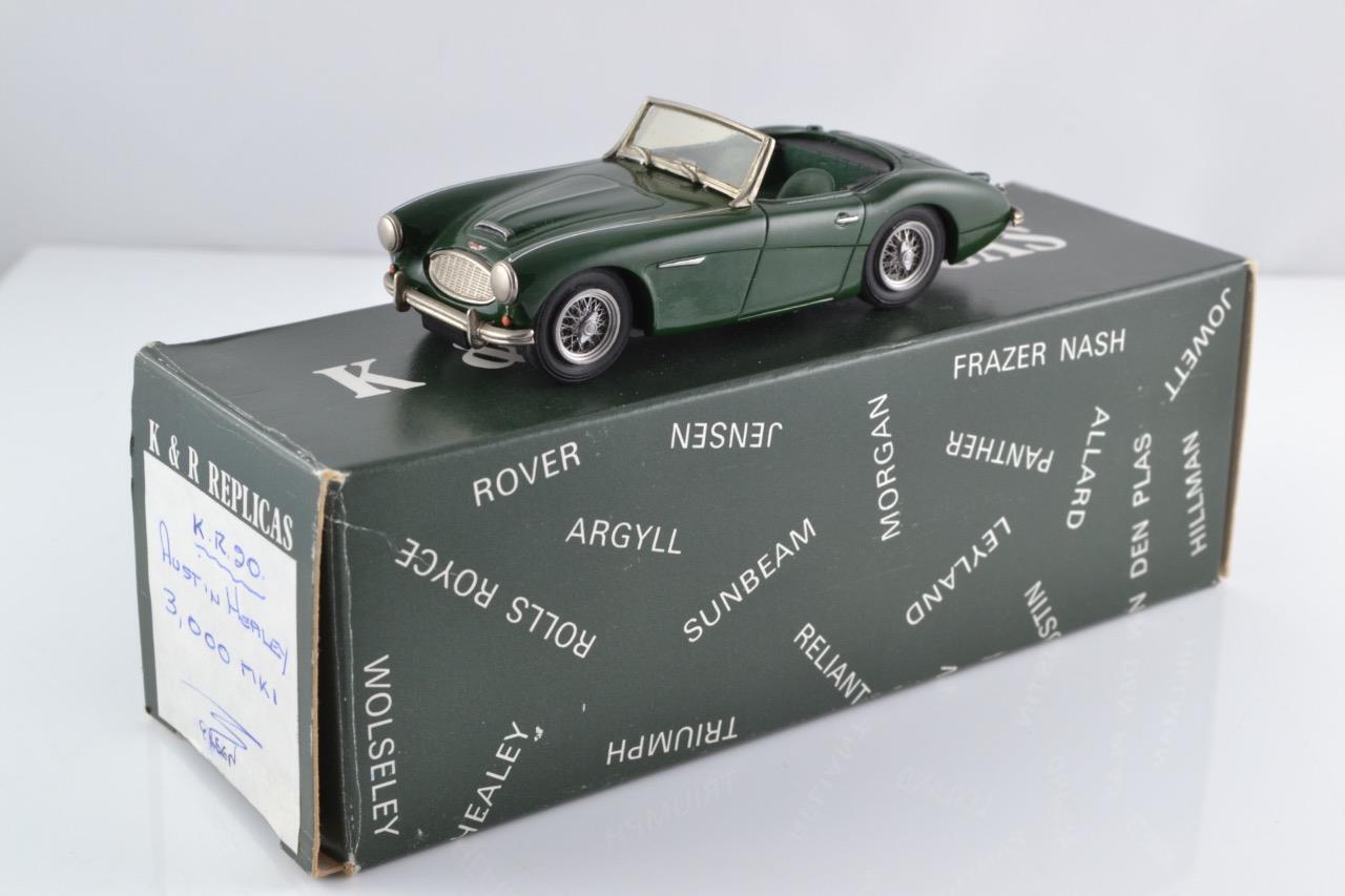 K & R réplicas KR20 Austin Healey 3000 MKI British Racing verde 1959-61 1 43 MIB