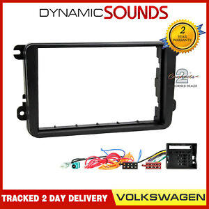 Double-Din-Stereo-Fitting-Kit-Facia-Wiring-Adaptor-Fascia-Panel-VW-Golf-MK5-MKV