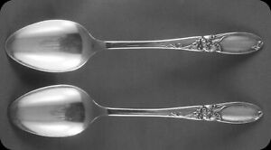Community-White-Orchid-5-1-4-034-5-O-039-Clock-Spoons-TWO-4-sets-of-two-avail