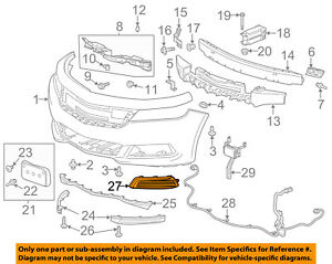Chevrolet GM Oem 1418 Impala Front Bumper Grilletrim Cover Right. Is Loading Chevroletgmoem1418impalafrontbumper. Chevrolet. 2011 Chevy Impala Front Diagram At Scoala.co