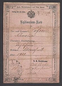 1858 Austria About In Id Alt Becse Schurlin Hungary Issued Sofron Card Stari Details Becej