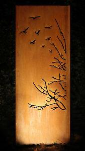 Gartenwand Sichtschutz Wand Vogel Stahl Rost 75x195 Cm Ebay
